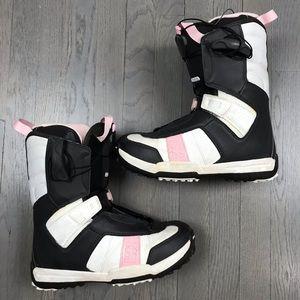 Salomon DAWN autofit Pink Grey Snowboard Boots